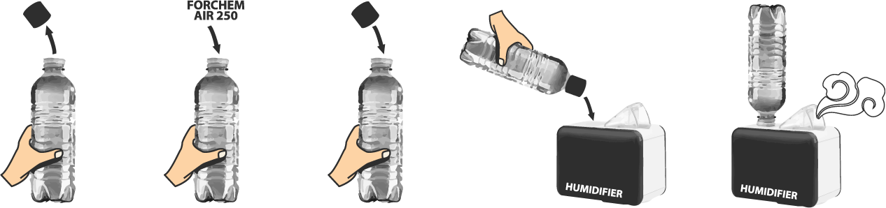 dezinfekcia vzduchu dezinfekčným prípravkom FORCHEM AIR 250 PLUS