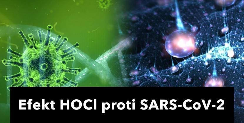efekt kyseliny chlórnej proti SARS-CoV-2